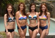 左起:何依婷﹑雷莊𠒇﹑伍樂怡和黃瑋琦,是眾候選佳麗中,身材甚弗的4位佳麗。