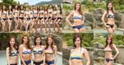 12位候選港姐在台北拍攝外景幾天,終於來到重頭戲──泳裝對決﹗(攝影:孫華中台北直擊)