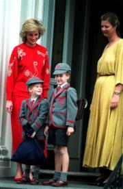 戴安娜(左)與威廉王子、哈里王子合照。(The Royal Family facebook圖片)