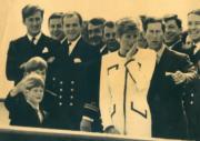 戴安娜、查理斯及兩名兒子,乘坐不列顛尼亞號前往加拿大安大略省。(法新社資料圖片)