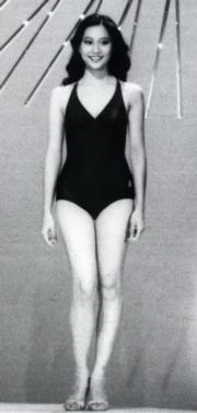 1980年的港姐泳裝仍變化不大,圖為冠軍戴月娥。(資料圖片)