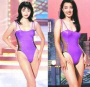 1994年港姐季軍李綺虹(圖左),黃釲瑩(圖右)奪最上鏡小姐。(資料圖片)