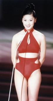 1997年港姐冠軍翁嘉穗。(資料圖片)