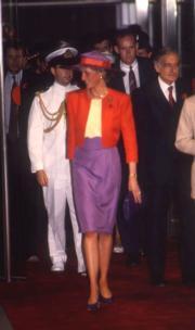 1989年,戴安娜(中)(資料圖片)