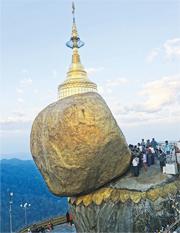 緬甸重量級朝聖熱點  大金石斜立千米崖邊