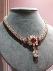 Ruby and Diamond Necklace.(黃廷希攝)
