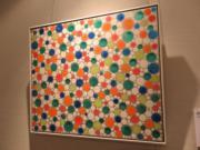 草間彌生《圓點的痴迷 - OWENG》(2004年作)。估價約100萬至150萬港元。(黃廷希攝)