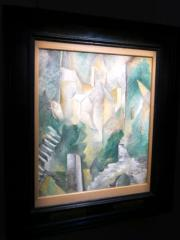 Georges Braque《聖丹尼斯卡里耶爾教室》(1909年作)。估價約250萬至350萬美元。(黃廷希攝)