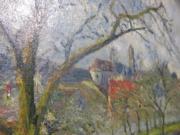 Camille Pissarro《冬天的聖旺奧摩恩果園》(1877年作)。(黃廷希攝)