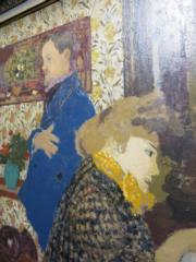 Edouard Vuillard Misia et Vallotton à Villeneuve(1899年作)。估價約700萬至1000萬美元。(黃廷希攝)