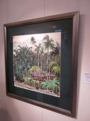 吳冠中《西雙版納風景》(1988年作)。估價約15萬至23萬美元。(黃廷希攝)