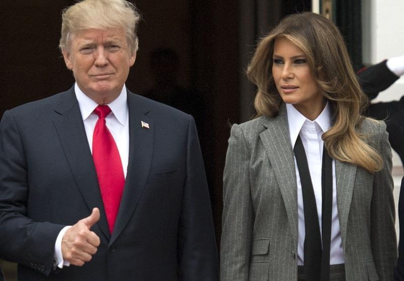 【不羈的白宮女主人】領帶當頸飾!Melania Trump 解放第一夫人束縛形象