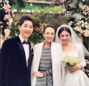 章子怡先後在《太平輪》及《一代宗師》跟宋慧喬合作,她專程往首爾參加婚禮恭賀一對新人。(網上圖片)