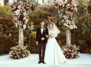 「雙宋」分享結婚的喜悅給傳媒發放婚禮照片。(網上圖片)