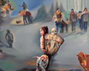 胡蓉「萬花筒」個人畫展 (布面油畫 2016)