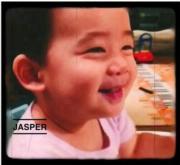 Jasper實在是一位愛笑的男孩。