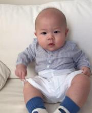 蘇永康8個月大兒子Jazz十分精靈。
