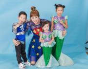 蔣麗莎婚後做了5年全職媽媽,大女陳雅薷(右一)、二仔陳璟逸(左一)及三女 陳若嫣(右二)逐漸成長了。