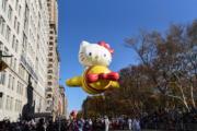 【美國感恩節巡遊】Hello Kitty造型氣球(法新社)