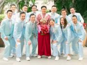 新郎哥黃頌祈在眾兄弟團成員陪同下,一早出發接新娘。(網上圖片)