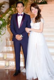 新娘子陳嘉寶美艷迷人,黃頌祈大讚她完美。(資料圖片)