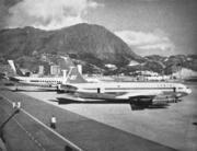 啟德機場新跑道,標誌香港民航高速發展的降臨。(圖片及資料由香港社會發展回顧項目提供)
