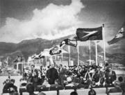 1958年,啟德機場新跑道啟用典禮。(圖片及資料由香港社會發展回顧項目提供)
