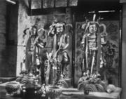 青山寺內的神像。(圖片及資料由香港社會發展回顧項目提供)