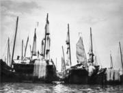 漁船曬網。(圖片及資料由香港社會發展回顧項目提供)