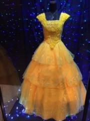 電影《美女與野獸》主角貝兒的禮服。(Janice Hui攝)