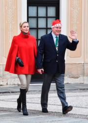 【摩納哥王室】摩納哥王妃維特斯托克(左)與阿爾貝二世親王(右)(法新社)