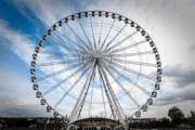 法國巴黎協和廣場(Place de la Concorde)的摩天輪(法新社)