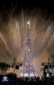 【世界各地聖誕樹】黎巴嫩首都貝魯特北面的海岸城市Byblos(法新社)