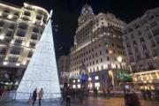 【世界各地聖誕樹】西班牙馬德里Gran Via(法新社)