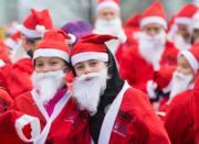 加拿大聖誕慈善跑(新華社)