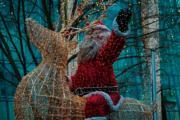 德國柏林,聖誕老人裝置 (法新社)