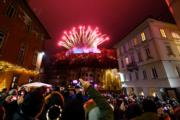 【2018煙花賀新年】斯洛文尼亞首都盧布爾雅那(Ljubljana)(法新社)
