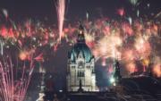 【2018煙花賀新年】德國漢諾威New City Hall(法新社)