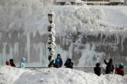 加拿大安大略省尼亞加拉大瀑布(法新社)