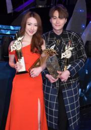 菊梓喬、胡鴻鈞齊齊獲TVB頒發「最佳演繹男、女歌星獎」。(資料圖片)