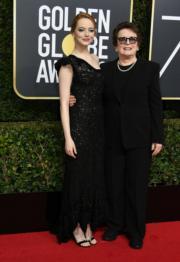 愛瑪史東(Emma Stone,左)與Billie Jean King(右)