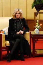 【第一夫人時裝】法國總統馬克龍的夫人布麗吉特 (法新社)