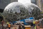 亞馬遜(Amazon)在西雅圖的辦公空間。(法新社)