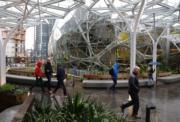 亞馬遜(Amazon)在西雅圖的辦公空間(法新社)