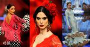 西班牙西維爾舉行佛蘭明高時裝展。(Simof, Salón Internacional de Moda Flamenca facebook圖片、法新社)