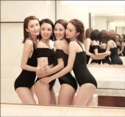 影性感泳裝照紀念「少婦聯盟」成立1周年。(網上圖片)