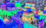 2018年1月19日,北京延慶第32屆龍慶峽冰燈藝術節。(新華社)