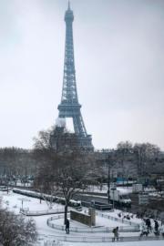 2018年2月,巴黎艾菲爾鐵塔(法新社)