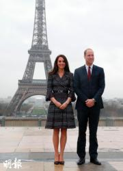 英國劍橋公爵伉儷威廉王子及凱特今年曾出訪法國。(資料圖片)