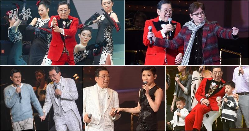 【圖輯】胡楓86破紀錄演唱會 群星拱照 星光閃閃